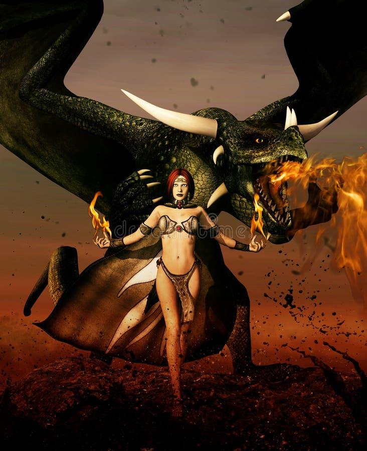 Ферзь дракона бесплатная иллюстрация