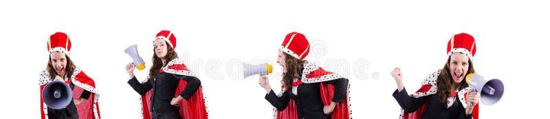 Ферзь женщины в смешной концепции стоковая фотография