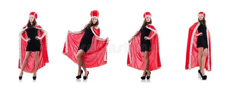 Ферзь женщины в смешной концепции стоковое фото rf