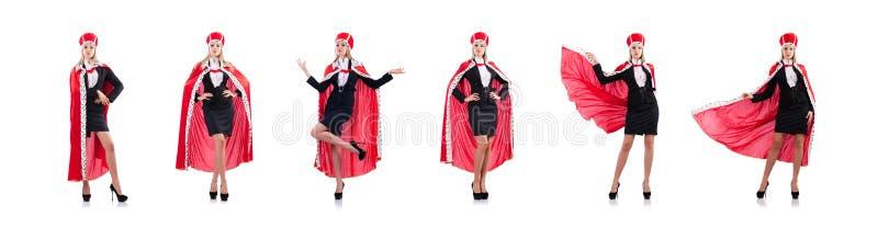 Ферзь женщины в смешной концепции стоковая фотография rf