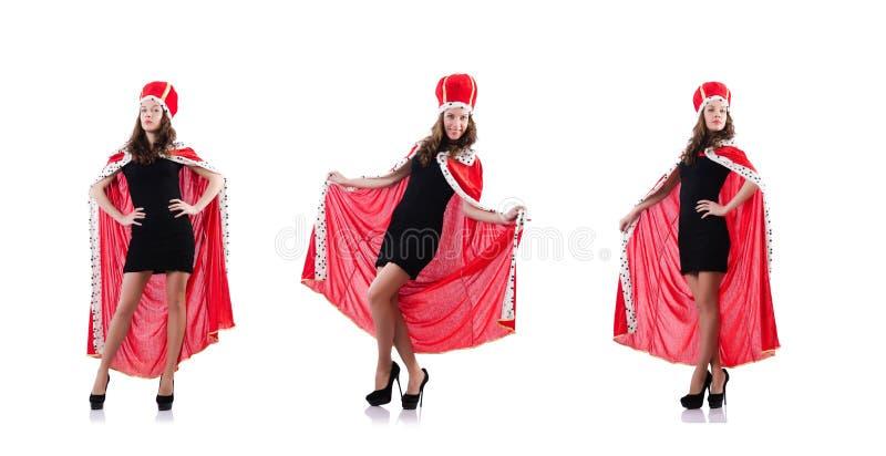 Ферзь женщины в смешной концепции стоковые фотографии rf