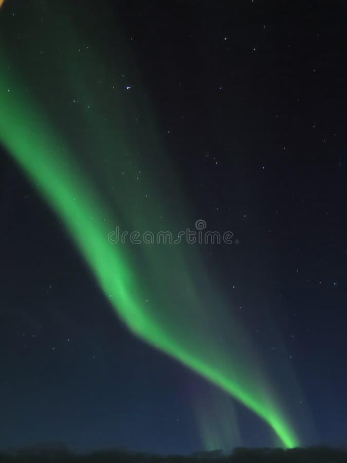 Ферзь танцев северного неба стоковая фотография