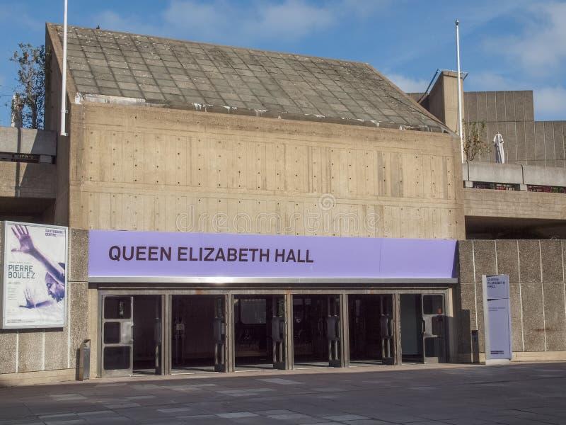 Ферзь Элизабет Hall Лондон стоковое фото rf