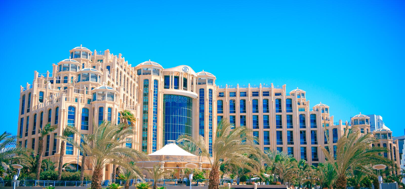 Ферзь Hilton Eilat гостиницы Sheba, Израиля стоковое изображение