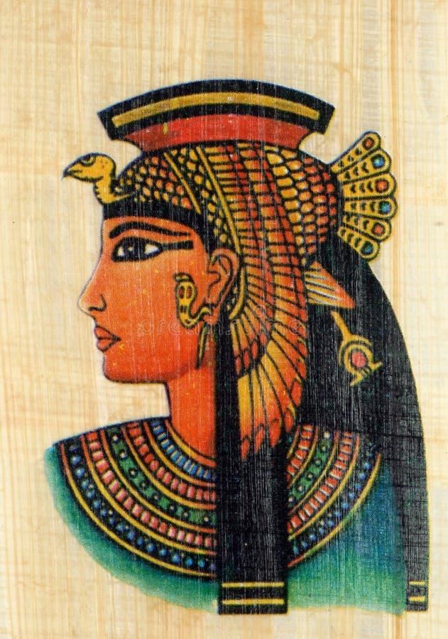 ферзь papyrus cleopatra стоковое изображение rf