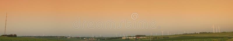 Ферма ветротурбин стоковое фото rf