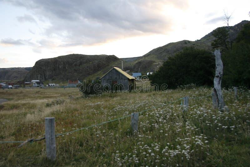 Ферма в Патагонии стоковое фото rf