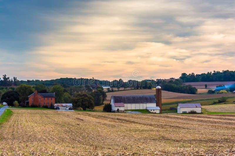 Ферма в сельском Lancaster County, Пенсильвании стоковое изображение rf
