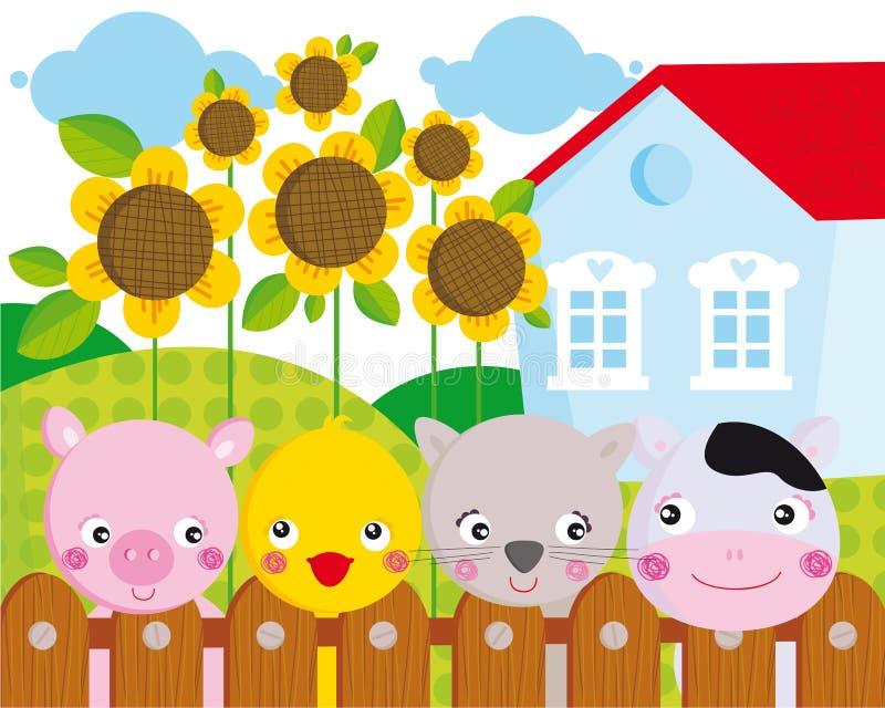 ферма животных иллюстрация вектора