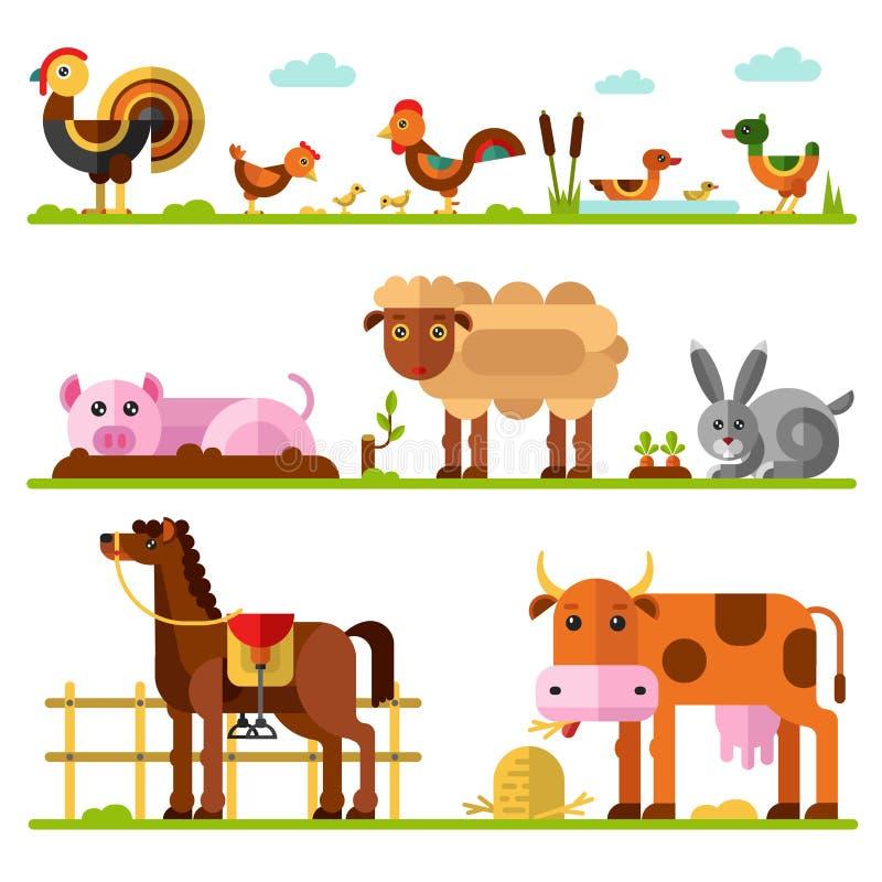 Ферма или домашние животные бесплатная иллюстрация