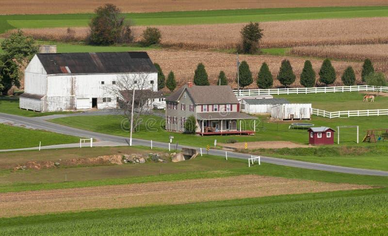 ферма Пенсильвания сельская стоковая фотография rf