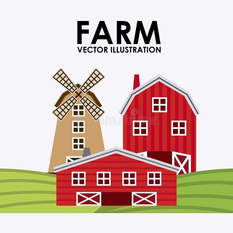 ферма свежая иллюстрация штока