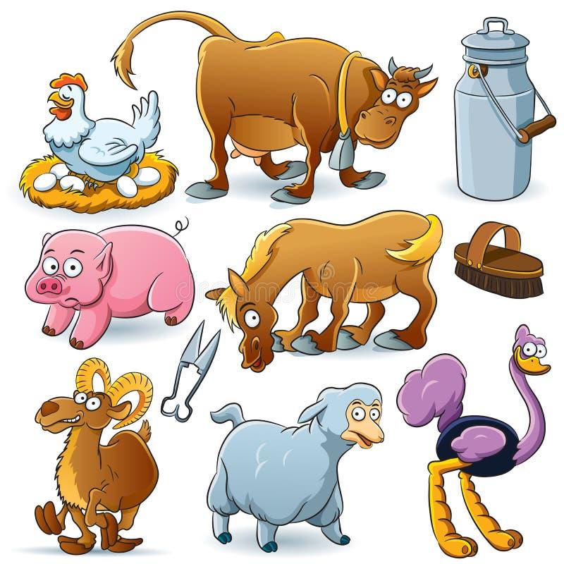 ферма собрания животных бесплатная иллюстрация