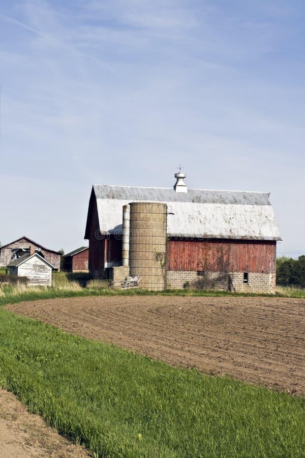 ферма старый wisconsin стоковая фотография