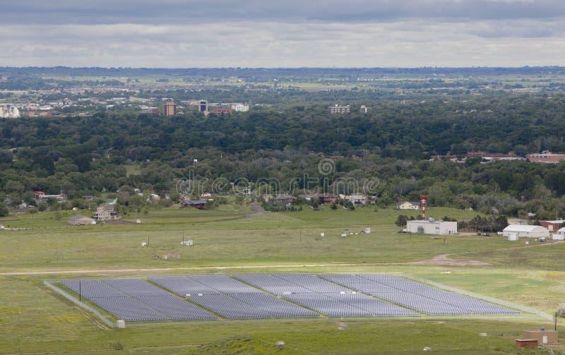 ферма энергии солнечная стоковое изображение rf