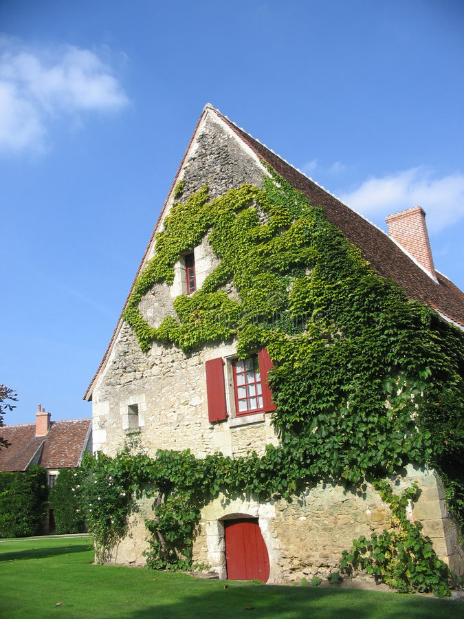 ферма chenonceau здания стоковые фотографии rf