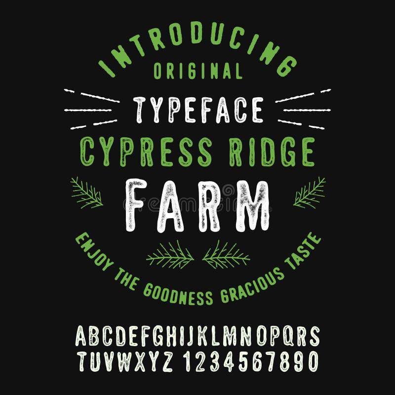 Ферма Cypress Риджа иллюстрация вектора