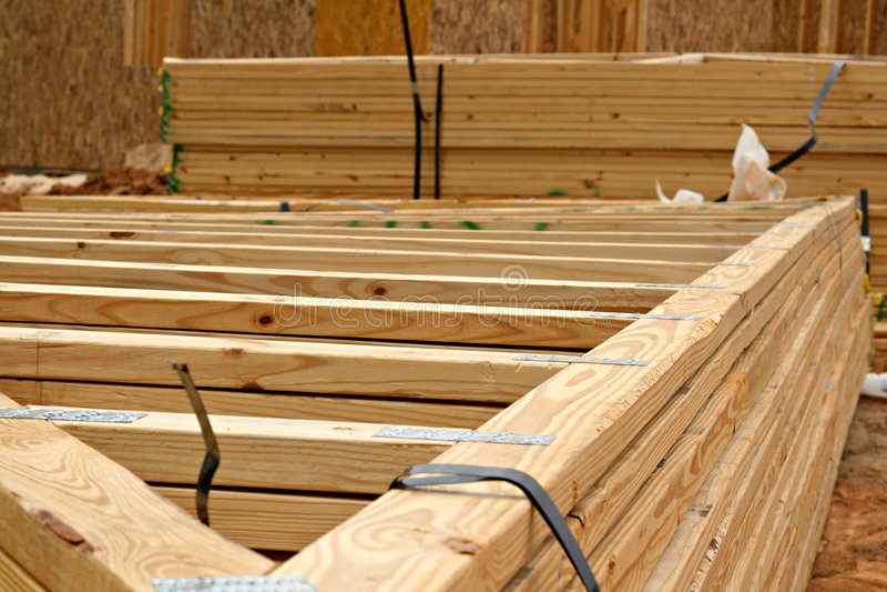 ферменная конструкция деревянная стоковое изображение rf