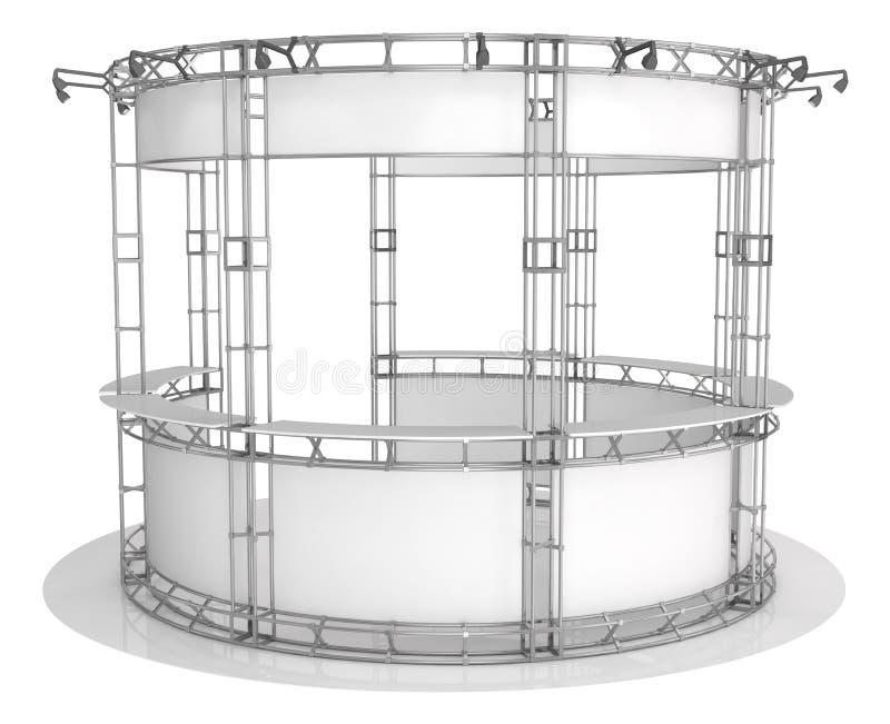 Ферменная конструкция торговой выставки, круглый павильон выставки иллюстрация 3d бесплатная иллюстрация