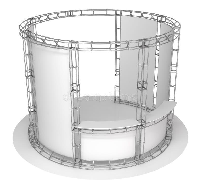 Ферменная конструкция торговой выставки, павильон выставки иллюстрация 3d иллюстрация вектора