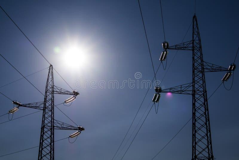 Ферменные конструкции для транспортировать электричество стоковое изображение