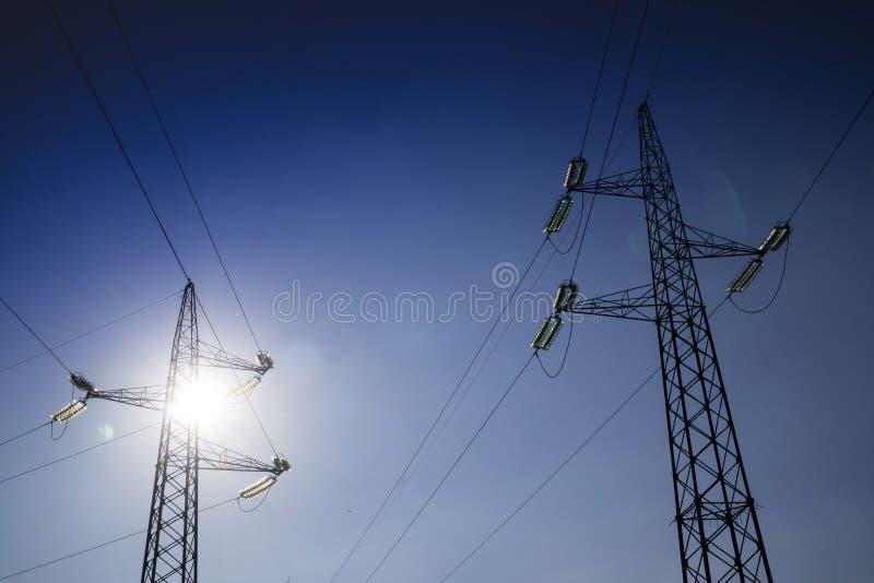 Ферменные конструкции для транспортировать электричество стоковое фото