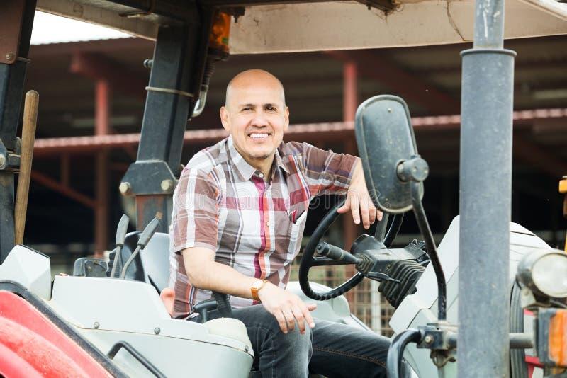 Download Фермер работая на сельскохозяйственной технике Стоковое Фото - изображение насчитывающей европейско, поголовье: 81801894