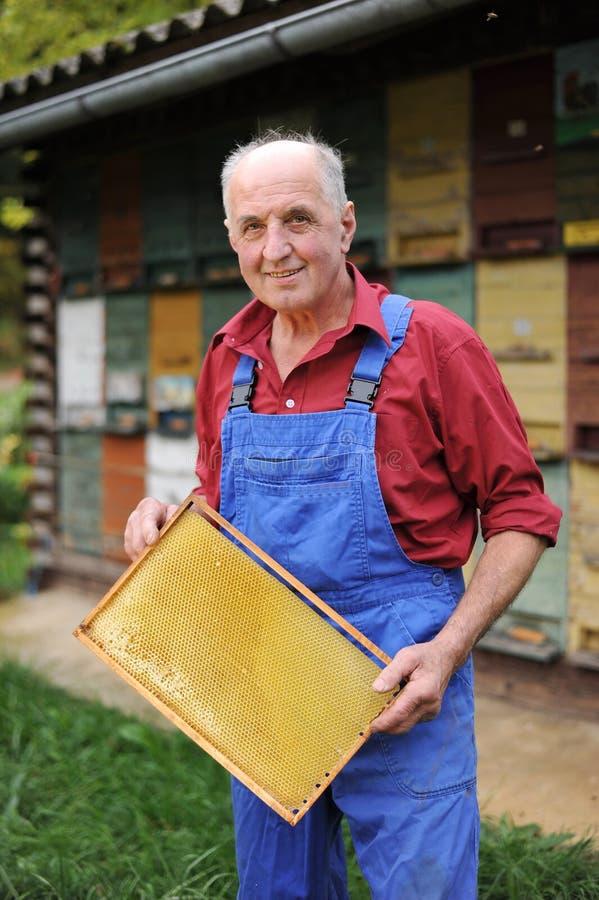 Фермер, beekeeper стоковая фотография rf