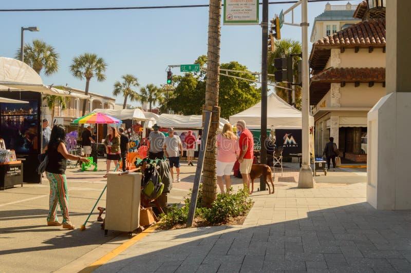 Фестиваль искусств март 2018 городской Ft Olas Las Lauderdale9 стоковые фотографии rf