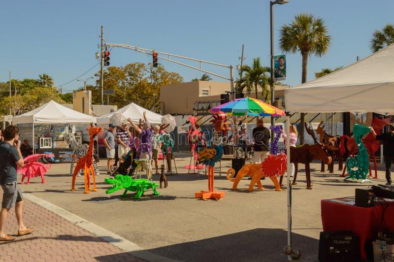 Фестиваль искусств март 2018 городской Ft Olas Las Lauderdale10 стоковая фотография rf