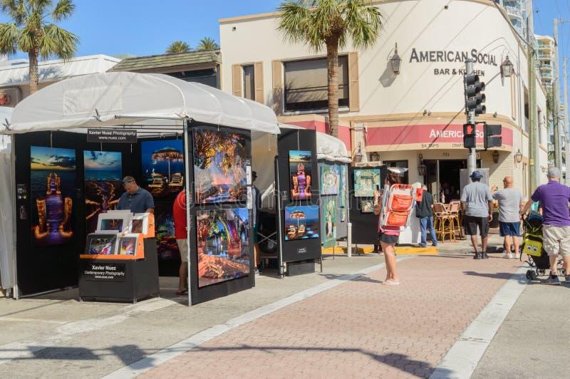 Фестиваль искусств март 2018 городской Ft Olas Las Lauderdale11 стоковое фото rf