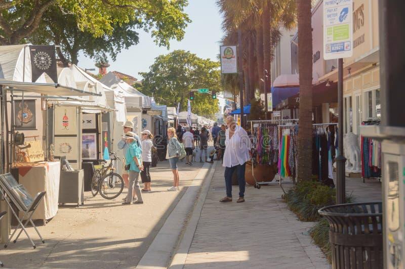 Фестиваль искусств март 2018 городской Ft Olas Las Lauderdale12 стоковое фото rf