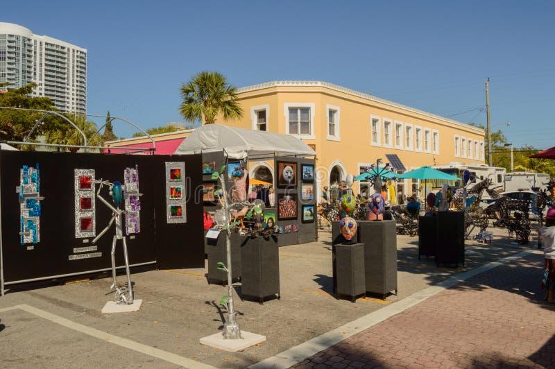 Фестиваль искусств март 2018 городской Ft Olas Las Lauderdale18 стоковое фото rf