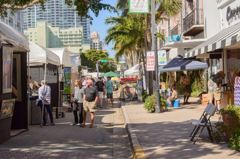 Фестиваль искусств март 2018 городской Ft Olas Las Lauderdale20 стоковое фото