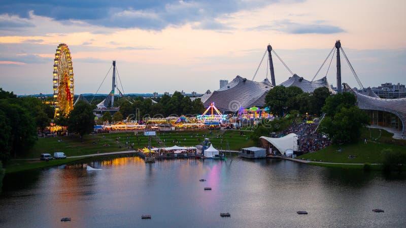 Фестиваль лета Impark, Мюнхен, Германия 2-ое августа 2019 стоковая фотография