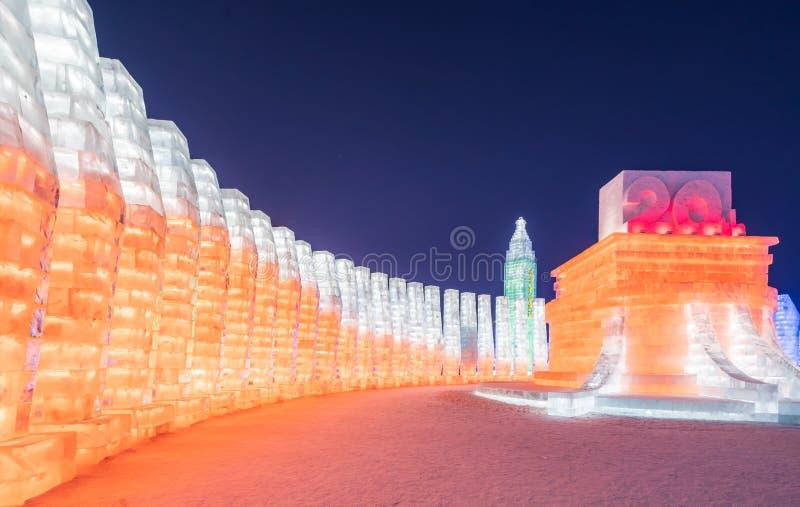 Фестиваль 2019 льда и мира снега, Харбин, Хэйлунцзян, Китай стоковая фотография