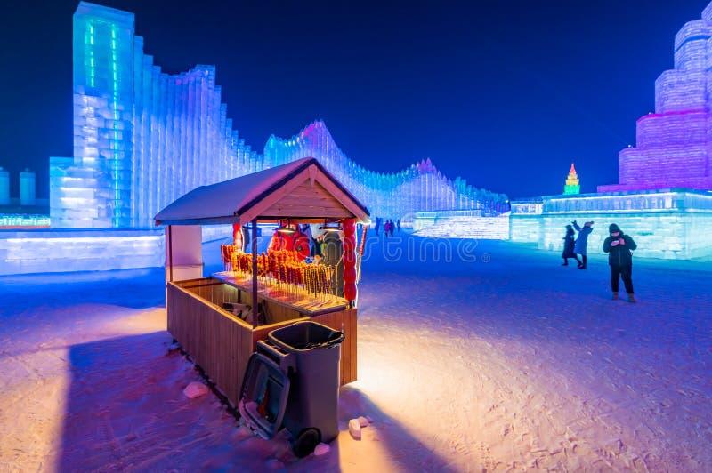 Фестиваль 2019 льда и мира снега, Харбин, Хэйлунцзян, Китай стоковое изображение