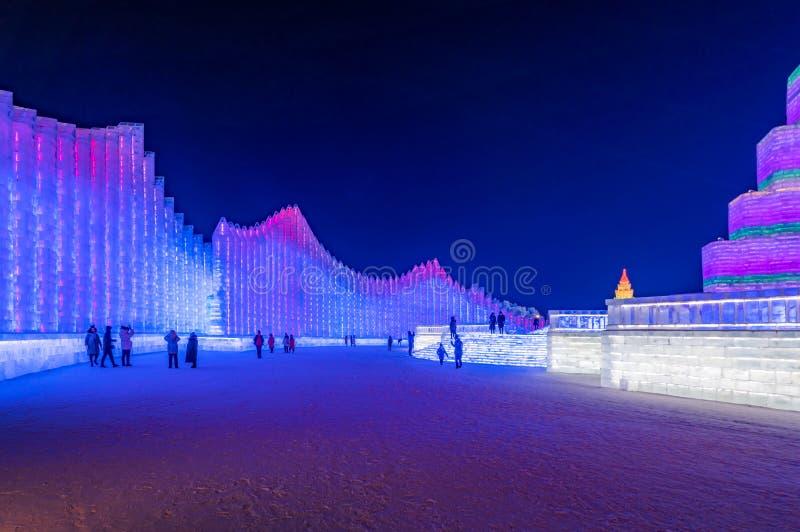 Фестиваль 2019 льда и мира снега, Харбин, Хэйлунцзян, Китай стоковые изображения