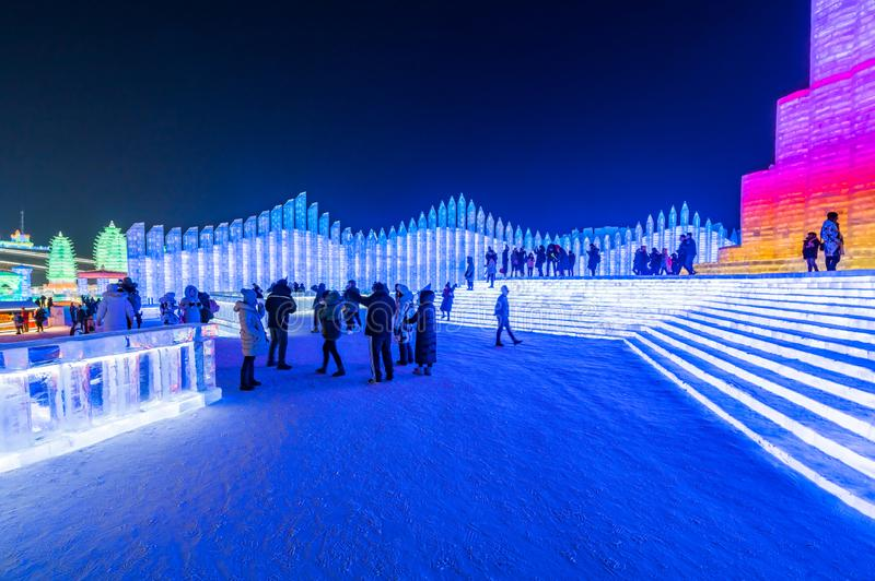 Фестиваль 2019 льда и мира снега, Харбин, Хэйлунцзян, Китай стоковое фото