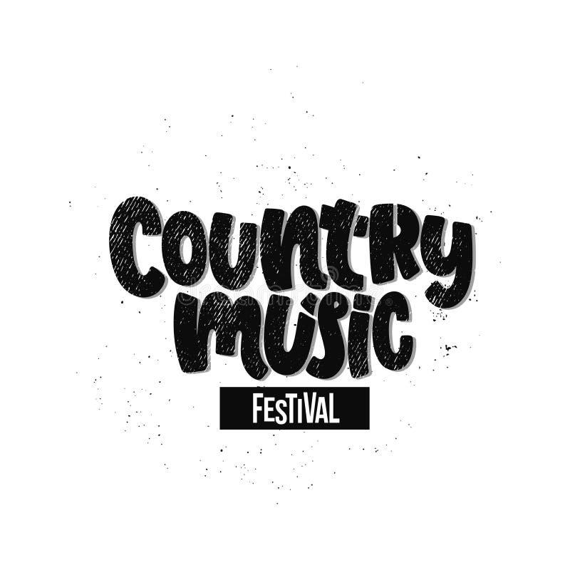Фестиваль музыки кантри бесплатная иллюстрация