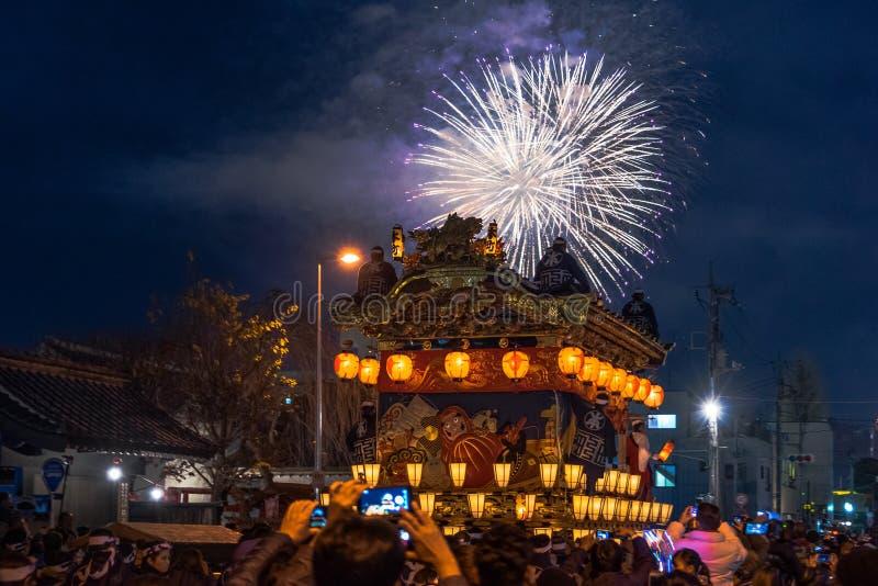 Фестиваль ночи Chichibu стоковые фотографии rf