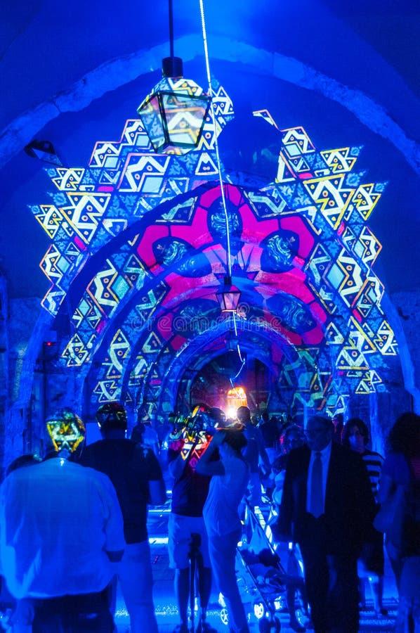 Фестиваль света Иерусалима стоковая фотография