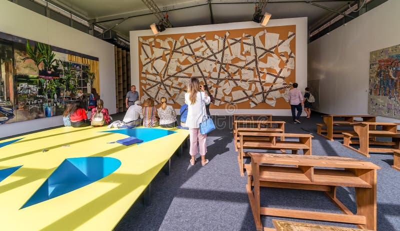 Фестиваль современного искусства на Бухаресте стоковое фото rf