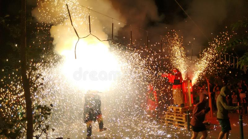 Фестиваль фейерверков стоковое изображение rf