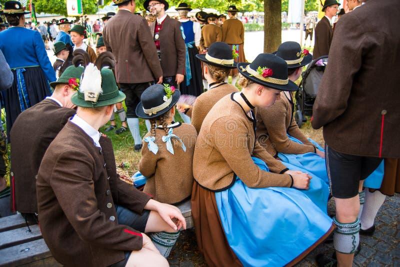 фестиваль фольклора Gautrachten th 129 стоковая фотография
