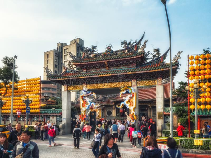 Фестиваль фонарика, Тайбэй, Тайвань стоковое изображение