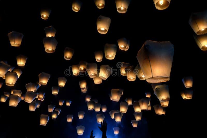Фестиваль lanter Pingxi в Тайване стоковая фотография rf