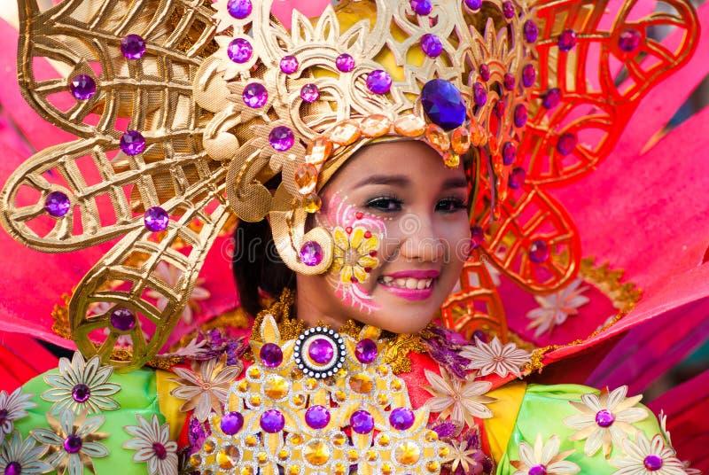 Фестиваль Pinta Flores, город San Carlos, житель Запада Negros стоковая фотография
