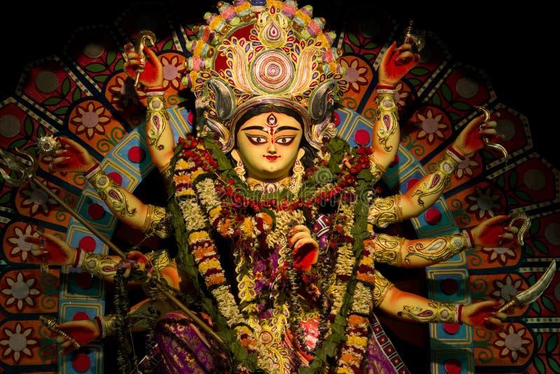 Фестиваль puja Durga в calcutta в Индии стоковое фото