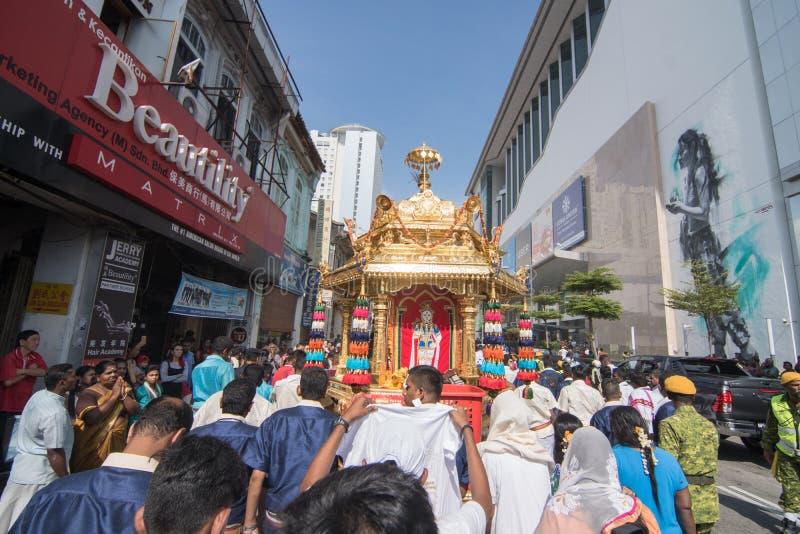 Фестиваль Thaipusam на Джорджтауне, Penang, Малайзии стоковое изображение